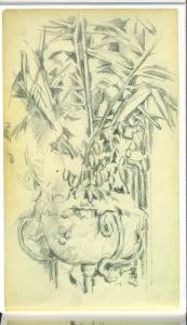 C0644 Plantes dans un vase de fleurs suspendu 83-86 CV 11V