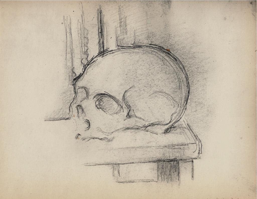 C1214 Crâne sur une table 00