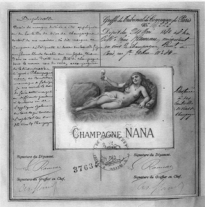 Etiquette champagne Nana