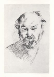 Cézanne autoportrait, page de tête du catalogue de 1956