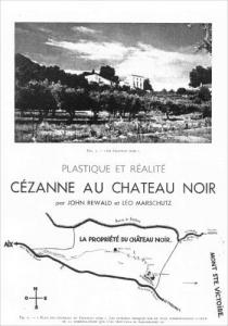 Cézanne au Château Noir par Rewald et Marchutz, 1936