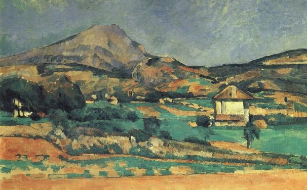 Localisation Sainte-Victoire vue du chemin de Valcros (FWN127-R398,,C0894,C0895)