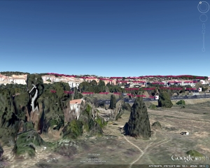 Fig. 10 . Le champ de vision de l'aquarelle en 3D à 19 m. du sol
