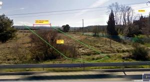 Fig. 17. Bastide Milon et panorama de R605 depuis l'autoroute