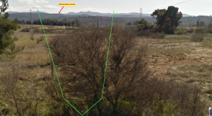 Fig. 18. Bastide Milon et panorama de R605 depuis l'autoroute