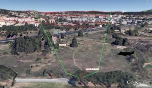Fig. 9 . Le champ de vision de l'aquarelle en 3D à 40 m. du sol