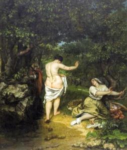 Courbet, Les Baigneuses, 1863, 227x193cm, Montpellier musée Fabre