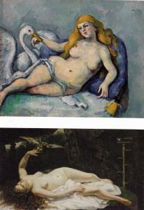 Cézanne : Leda et le Cygne Courbet Femme au Perroquet