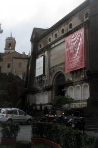 Rome, Entrée de l'exposition cezanne