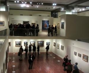 Une exposition sur deux niveaux