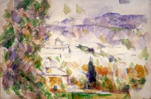 Environs d'Aix, Bastides Lou-Deven et Barbaroux, 190061906, 35,5x54,2cm, RW579, colll. priivée