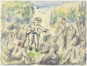 La Partie de campagne, vers 1875, 14,6 x 16,5 cm, RW045