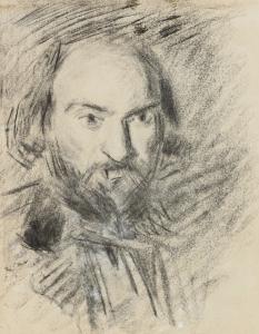 Autoportrait, vers 1875, 30,2 x 24 cm, C0401