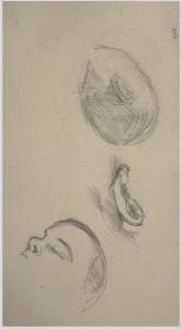 Études d'une tête, 1879, 12,4 x 22, C0727