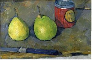 Poires et Couteau, 1877-78, 20,5x31cm, NR347