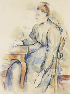 Femme assise (madame Cezanne?), 1902-1904, 48x36cm, RW543