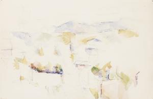 Paysage montagneux près d'Aix, vers 1895, 31x48cm, RW576