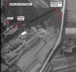 Fig. 5. Photo aérienne de l'Ensoleillée en 1934