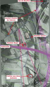 Fig. 15. Mise en place des éléments du paysage et position de Cézanne