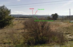 Fig. 3. Le sommet de la colline de Foncouverte entre la cote 695 et le Pilon du Roi