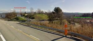 Fig. 4. Le sommet de la colline de Foncouverte à la droite du Pilon du Roi.