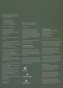 catalogue page intérieure de présentation du livre et l'exposition
