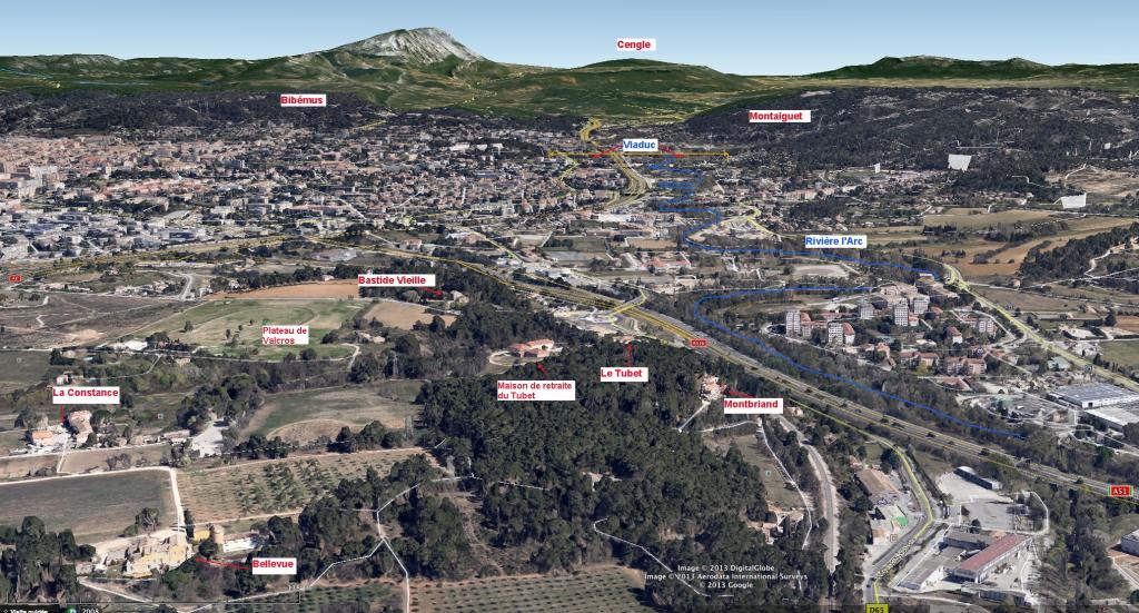 Fig. 1 . Plateau de Valcros et vallée de l'Arc