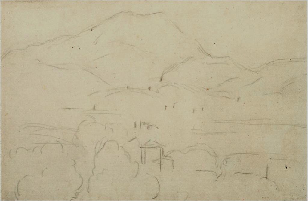 Fig. 52 bis . C1158 La Montagne Sainte-Victoire vue de Bellevue 92-95