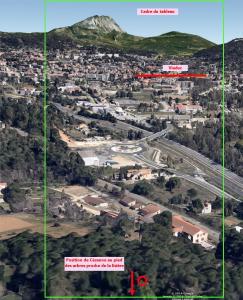 Fig.63. Hypothèse A (reconstruction 3D à 150 m d'altitude par rapport à la position A)