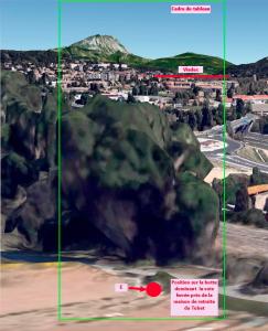 Fig.67. Hypothèse E (reconstruction 3D à 40 m d'altitude par rapport à la position E)