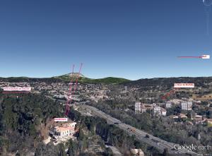 Fig. 70. Angle de vision sur la montagne Sainte-Victoire depuis Montbriand