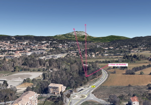 Fig. 71. Angle de vision sur la montagne Sainte-Victoire depuis le Gour de Martelly