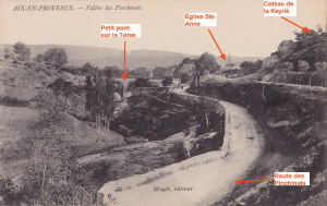 Fig. 11. Le Vallon des Pinchinats vu de l'aval vers 1905