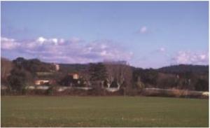 Fig. 14. Le Vallon des Pinchinats vu du hameau des Platanes