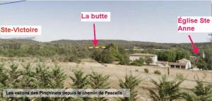 Fig. 15. La butte au-dessus du chemin de la Fontaine des Tuiles vue du chemin Pierre Pascalis