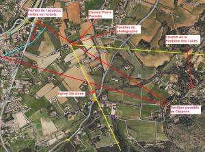 Fig. 16. La butte au-dessus du chemin de la Fontaine des Tuiles vue du chemin Pierre Pascalis