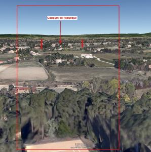 Fig. 19. Ligne d'horizon vue depuis la pente sous la maison 330