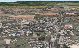 Fig. 2. Vue 3D du pont-aqueduc de Calèche