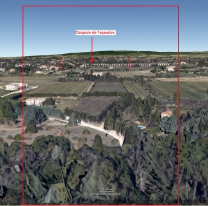 Fig. 20. Ligne d'horizon vue depuis la pente face au petit pont