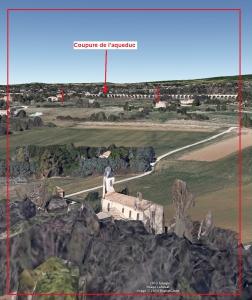 Fig. 21. Ligne d'horizon vue depuis la pente face à l'église Sainte Anne