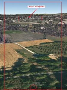 Fig. 22. Ligne d'horizon vue depuis la butte surplombant le Chemin de la Fontaine des Tuiles