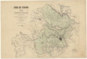 Fig. 25. Plan du canal du Verdon dressé par M. de Tournadre
