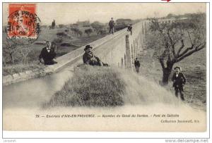 Fig. 32. Le pont-aqueduc de calèche, lieu de promenade en 1908