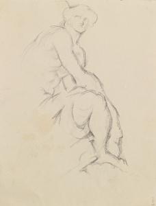 Mercure assis, 1894-97, 23,7 x 29 cm, C0975