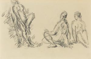 Trois baigneuses, 1894-1898, 12,6 x 20,7 cm, C1104