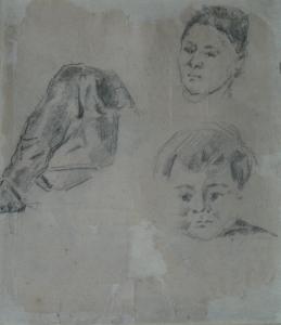 Page d'études, vers 1876, 23 x 20 cm, C0697