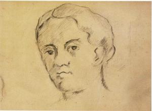 CS1880 A Tête (de Madame Cézanne) c80