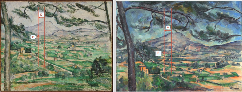 Fig. 9. R598 et R599 La Montagne Sainte-Victoire au grand pin 86-87