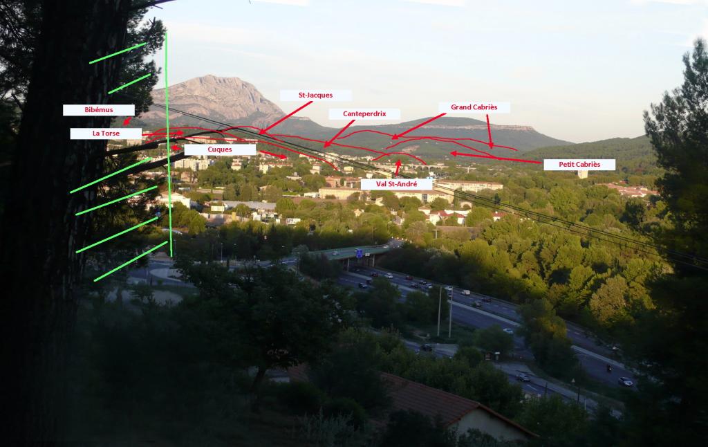 Fig. 18. Vallée de l'Arc vue au-dessus du Tubet