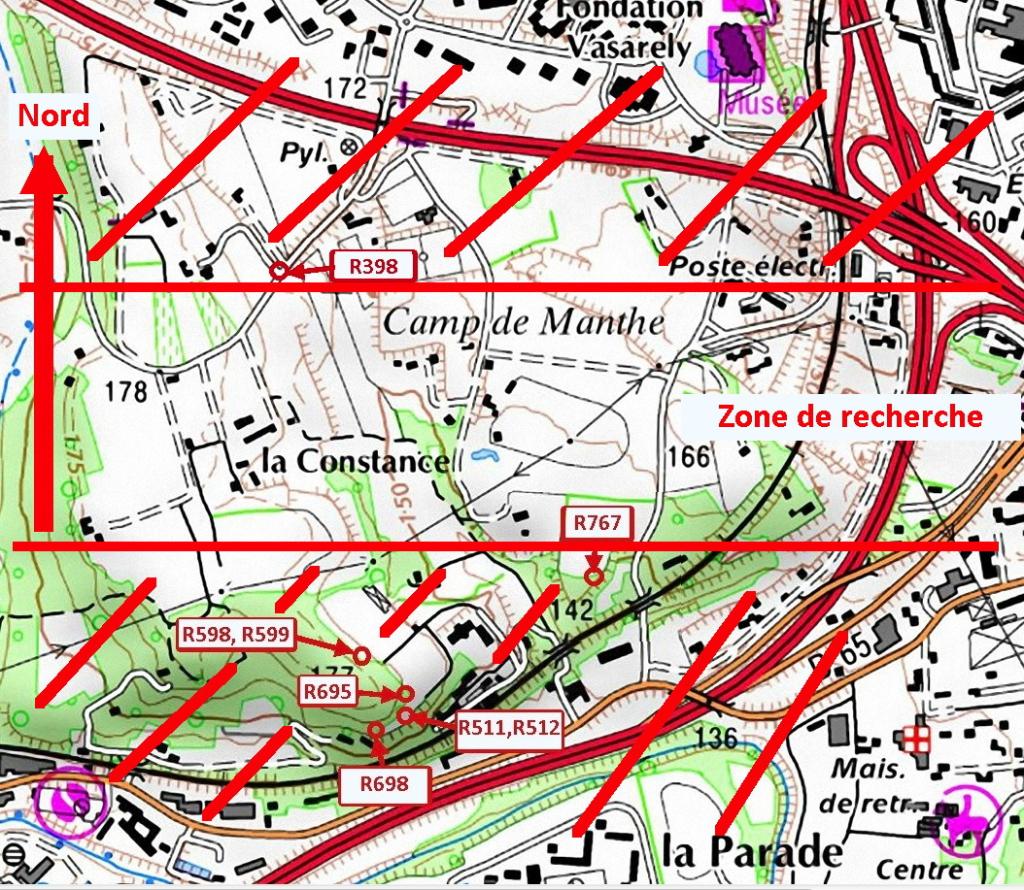 Fig. 29. Zone de recherche sur Valcros